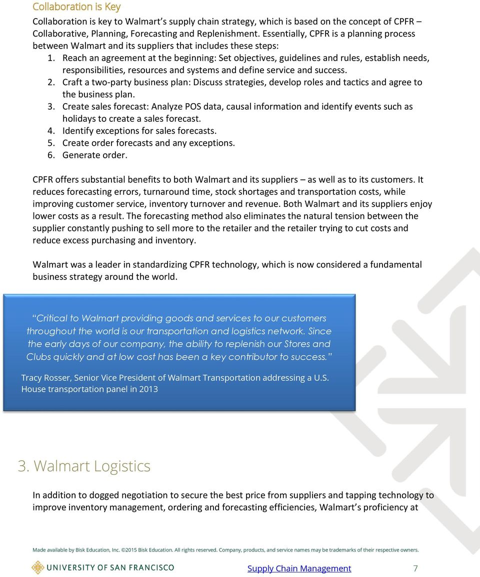 Walmart Supply Chain Low Pricing Strategy - PDF