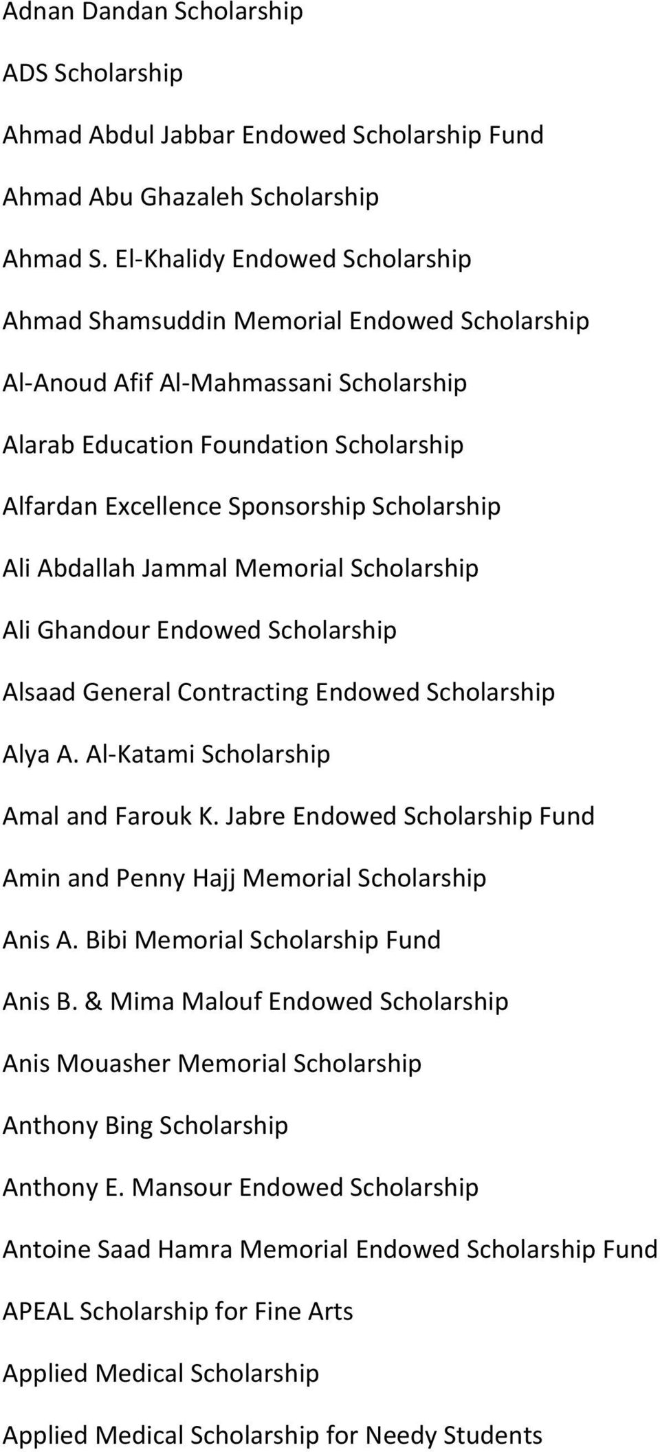 Scholarships and Fellowships - PDF
