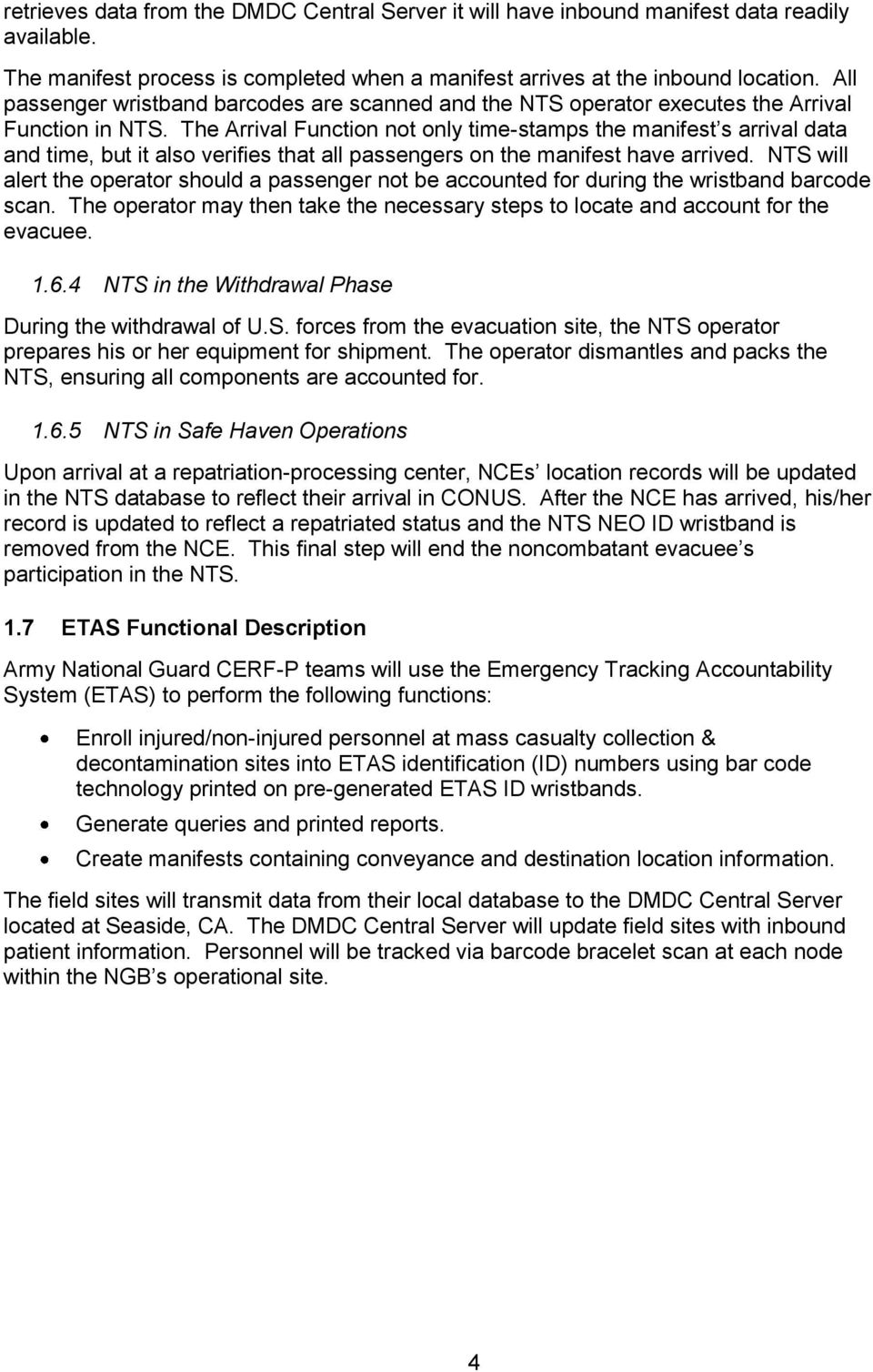 Noncombatant Evacuation Operation Tracking System