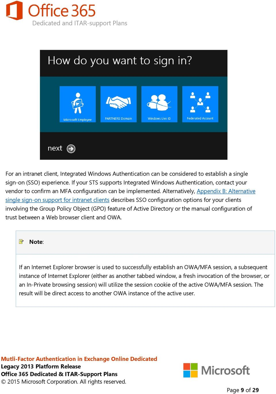 Multi-Factor Authentication for OWA in Exchange Online