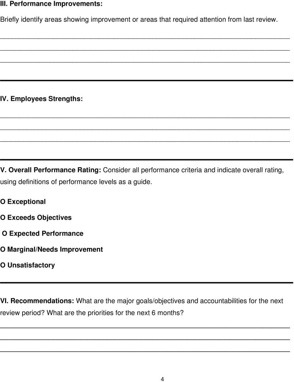 2015 Performance Appraisal Template Samples - PDF