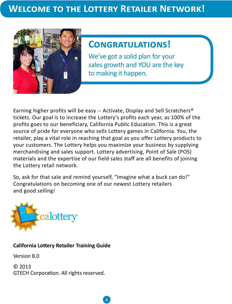 California Lottery  Retailer Reference Guide - PDF