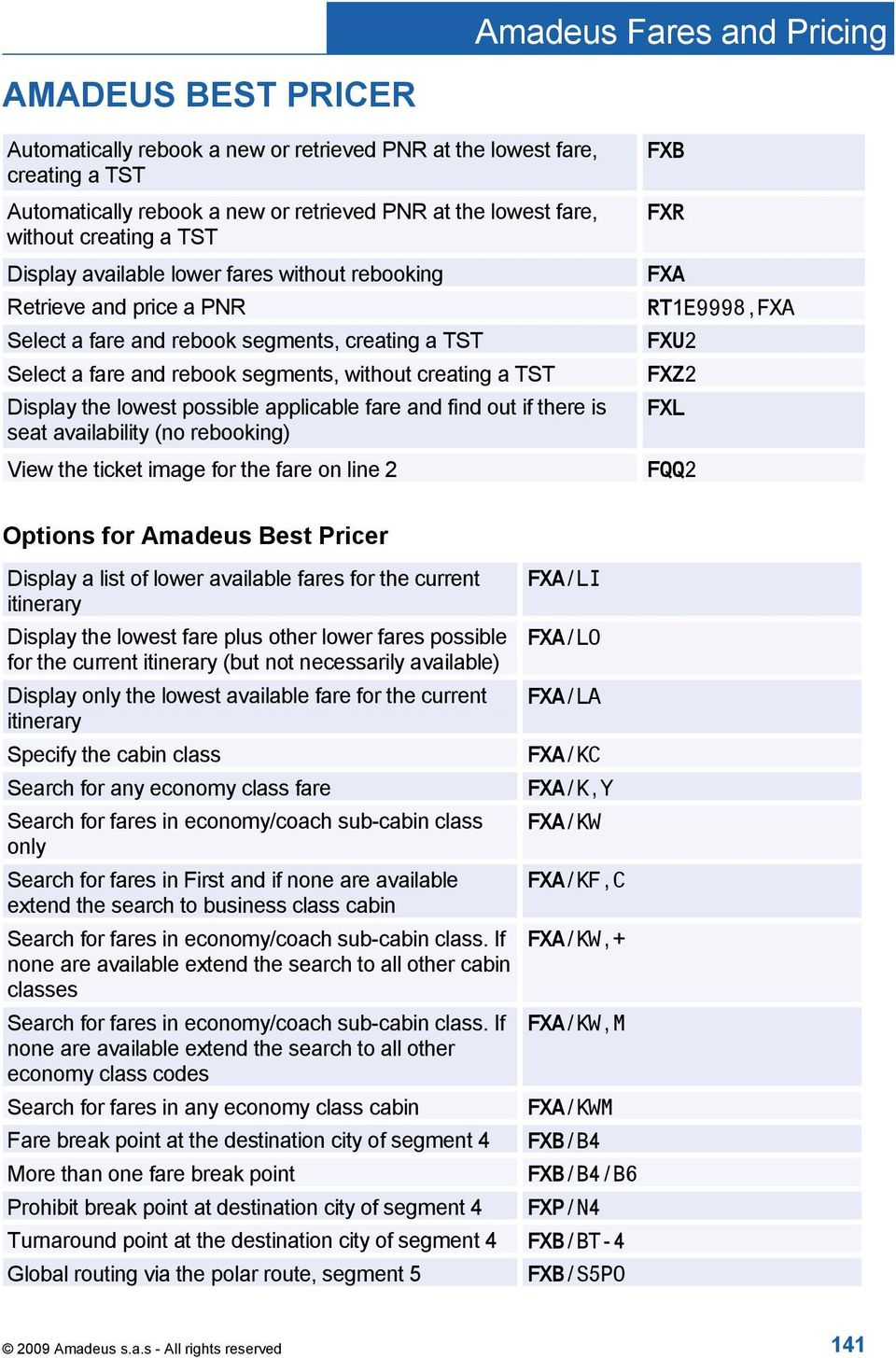 amadeus fares and pricing pdf rh docplayer net