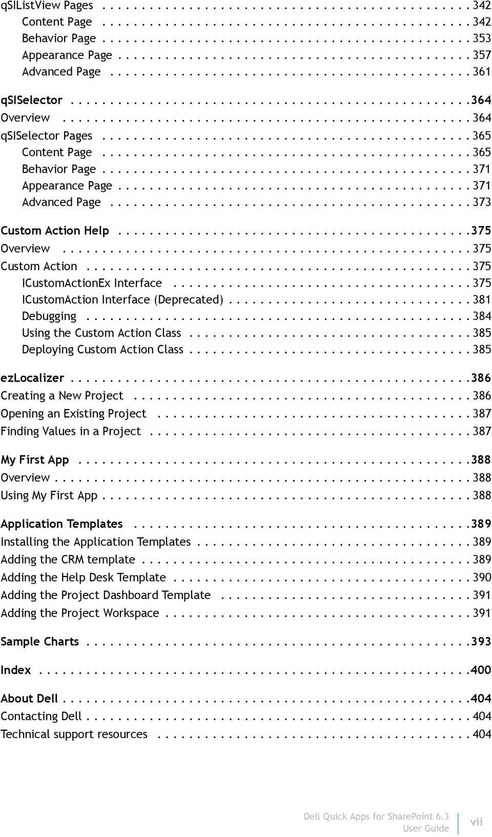 Dell Quick Apps for SharePoint 6 3  User Guide - PDF