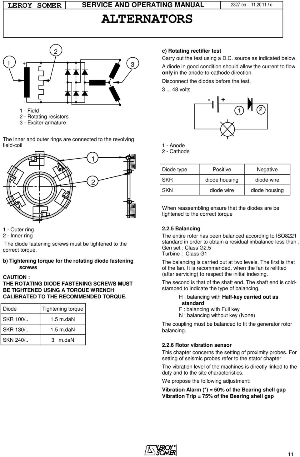 Alternator service operating manual pdf 48 volts 1 2 the inner and outer rings are connected to fandeluxe Choice Image