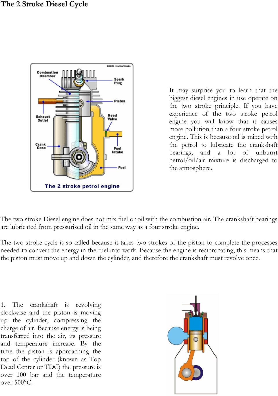 The Learning Resource For Marine Engineers Pdf Two Stroke Engine Diagram This Is Because Oil Mixed With Petrol To Lubricate Crankshaft Bearings And