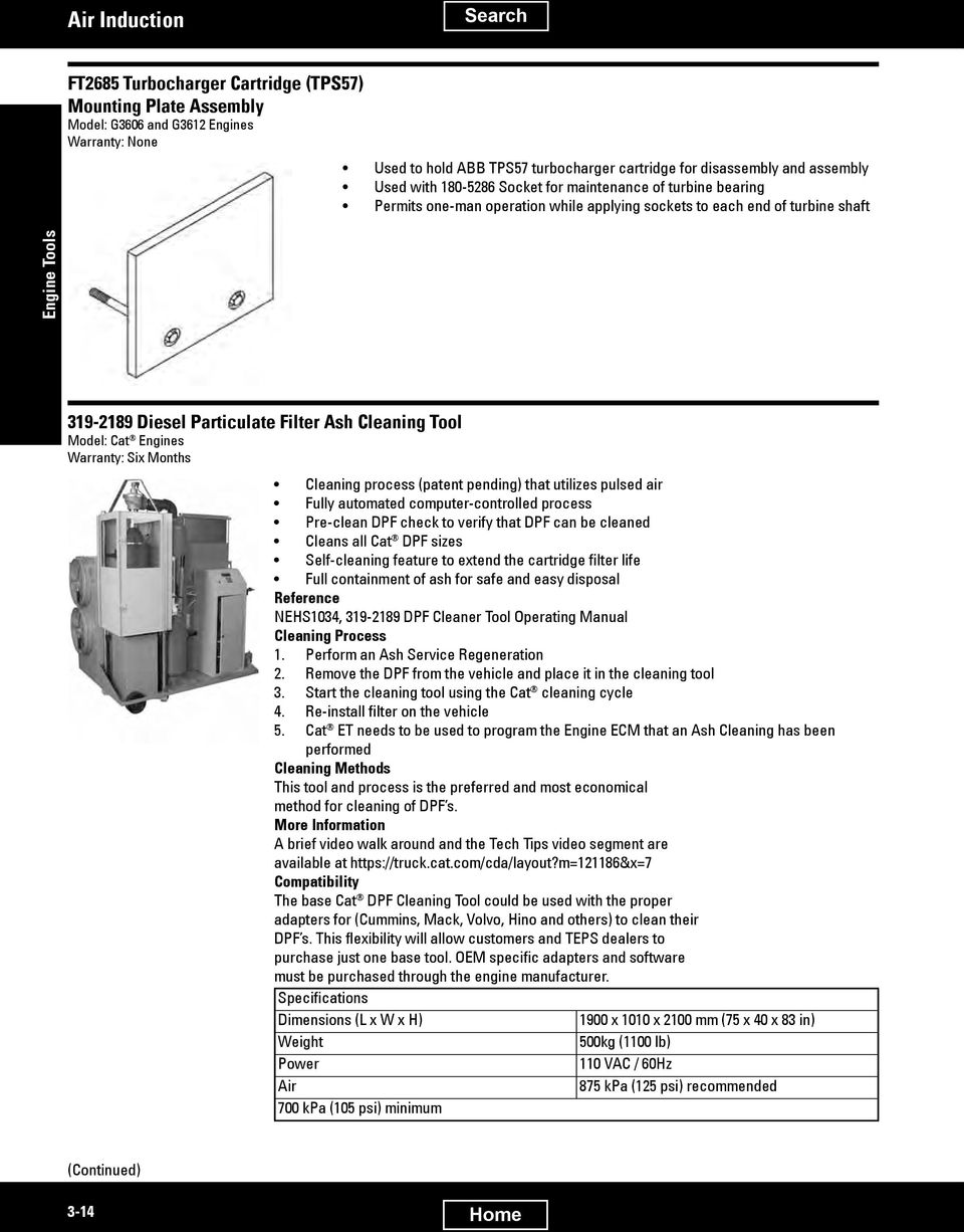 Engine Tools Table Of Contents Air Induction Cooling System Cat 236 Diagram Cleaning Tool Model Engines Process Patent Pending That Utilizes Pulsed