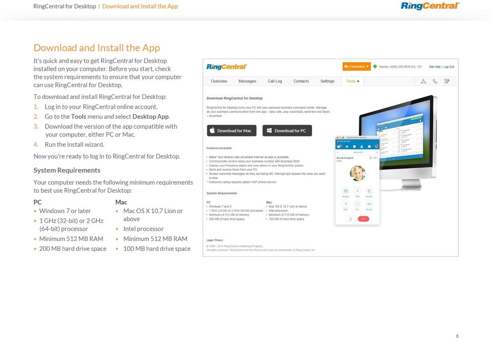 RingCentral for Desktop  User Guide - PDF