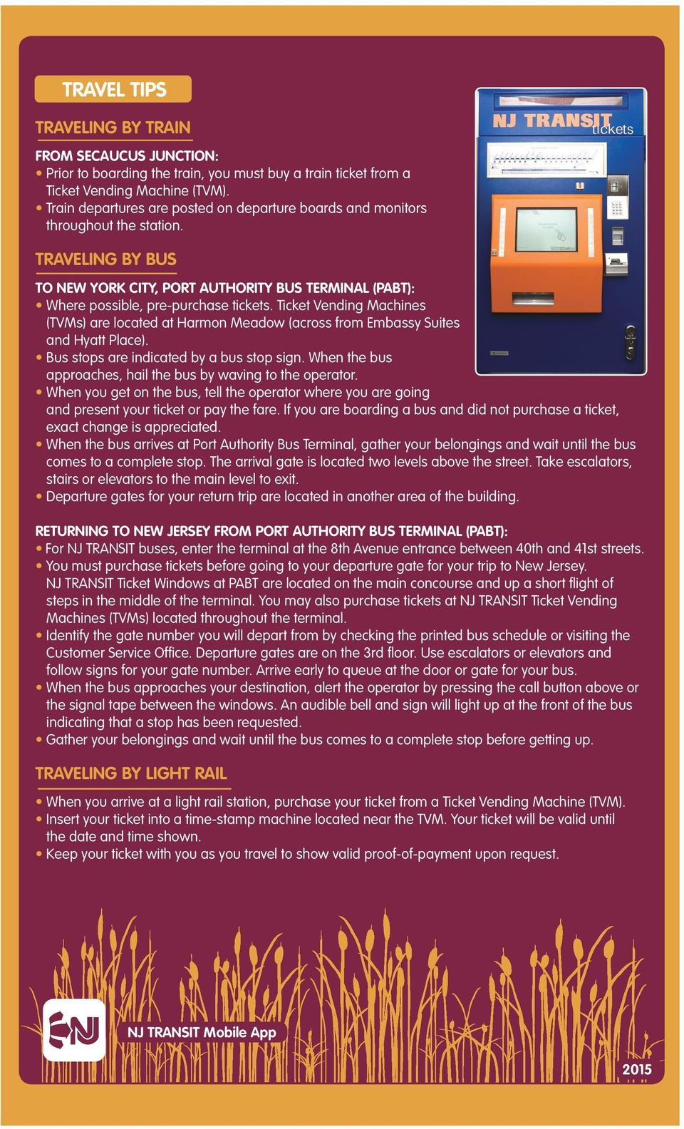 GREATER MEADOWLANDS  Transit Guide  HARMON MEADOW & MILL