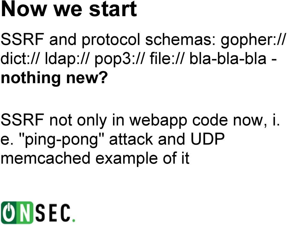 SSRF pwns: new techniques and stories - PDF