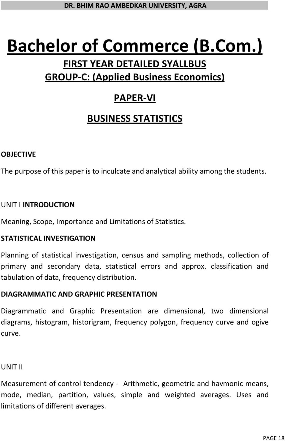 BACHELOR OF COMMERCE (B Com ) - PDF