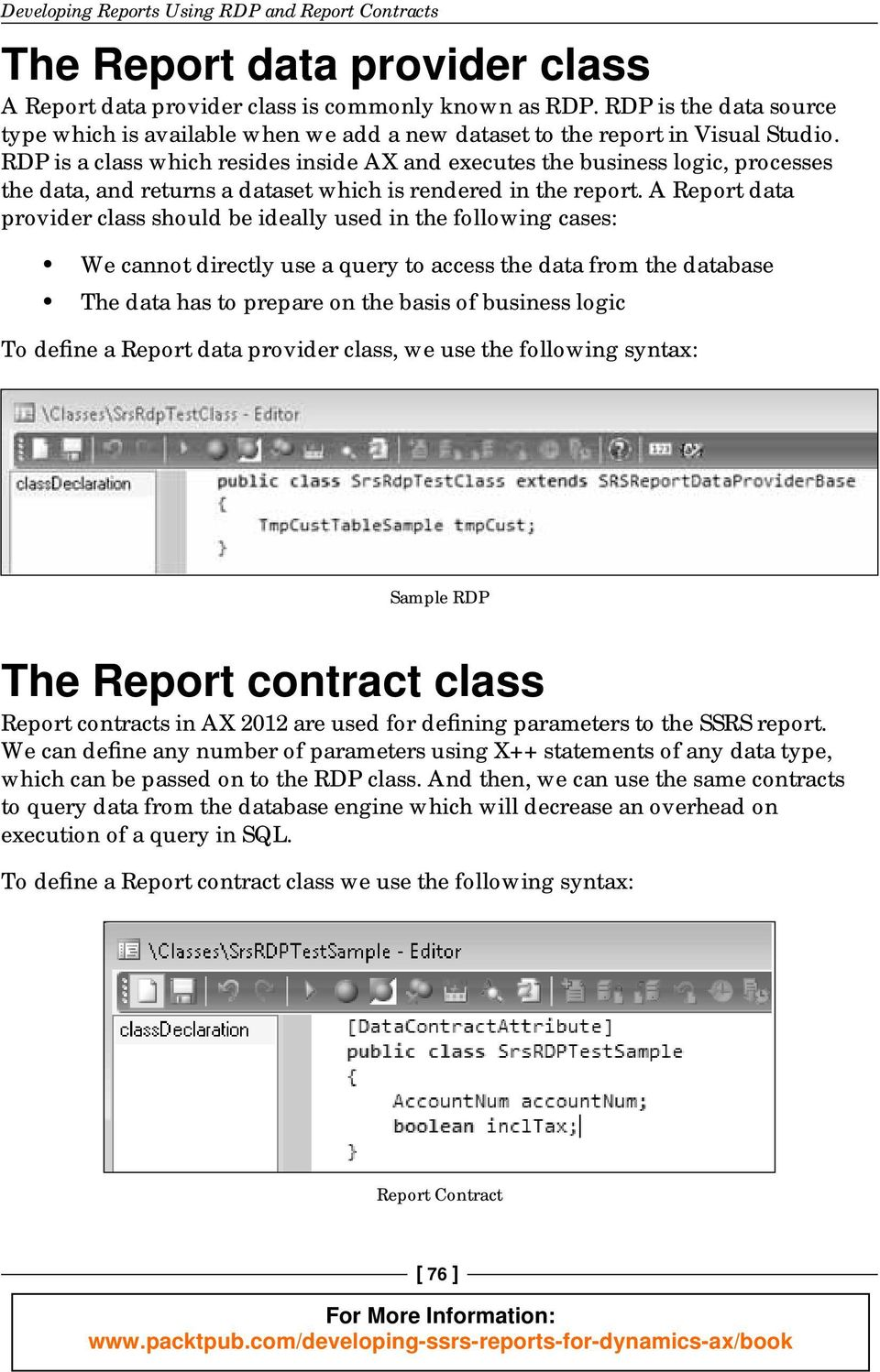 Developing SSRS Reports for Dynamics AX - PDF
