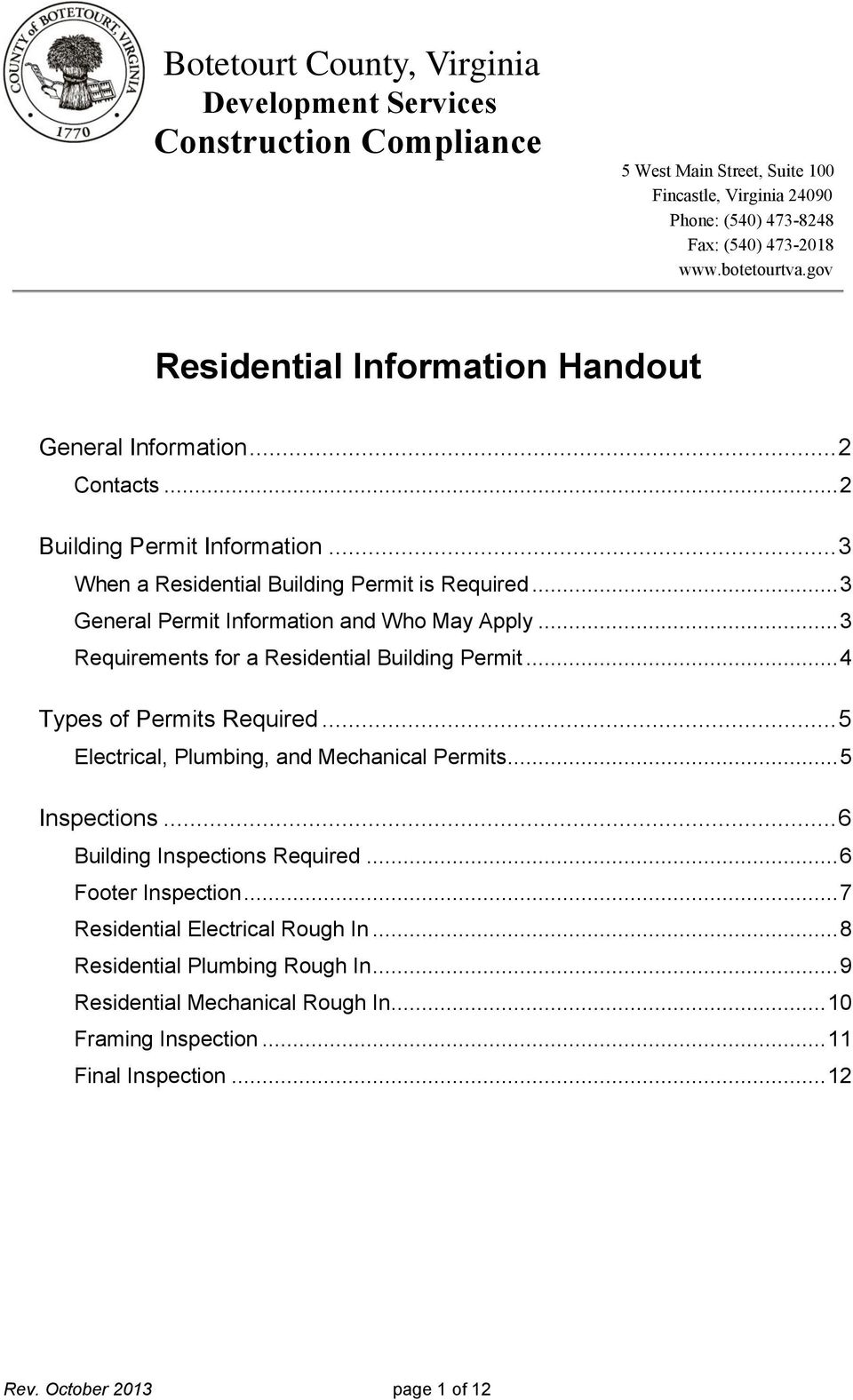 When Is A Building Permit Required In Virginia