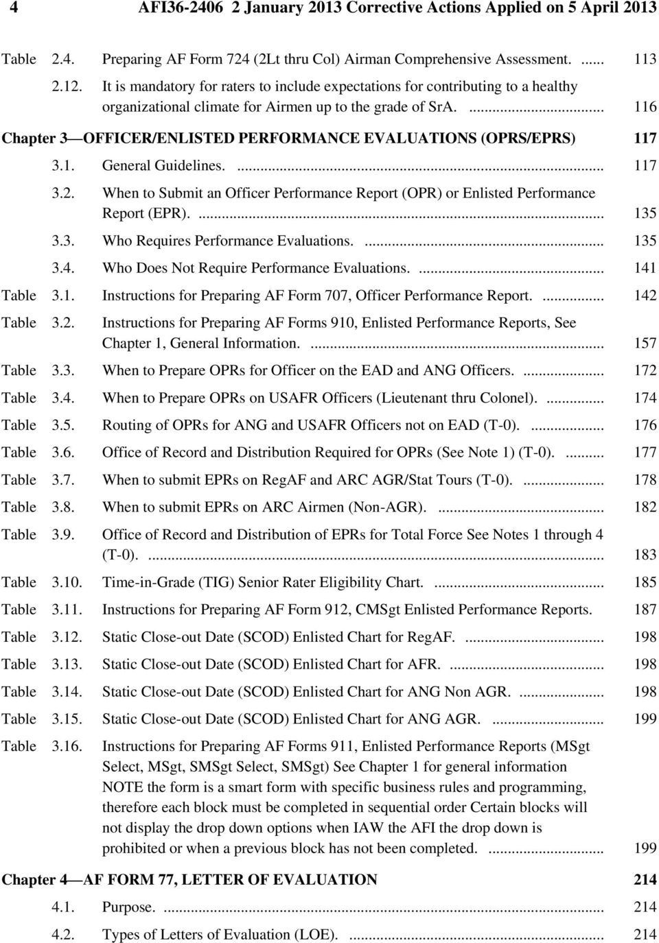 116 Chapter 3 OFFICER ENLISTED PERFORMANCE EVALUATIONS OPRS EPRS