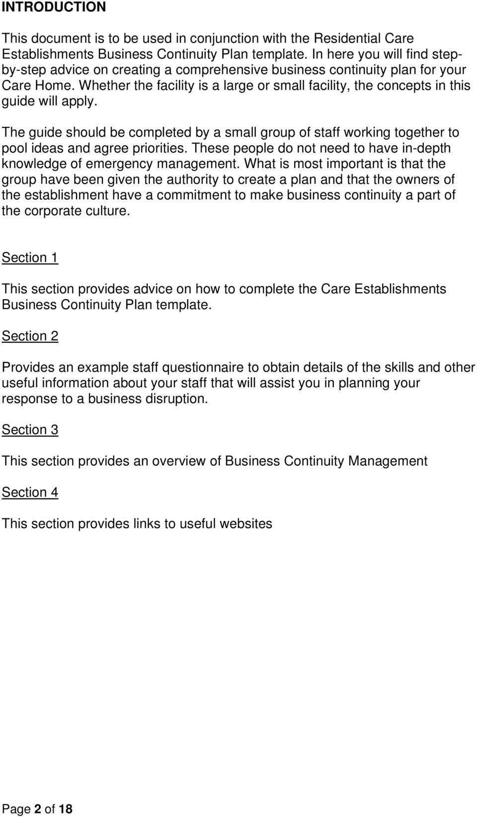 GUIDANCE DOCUMENT FOR COMPLETION OF RESIDENTIAL CARE ESTABLISHMENTS ...