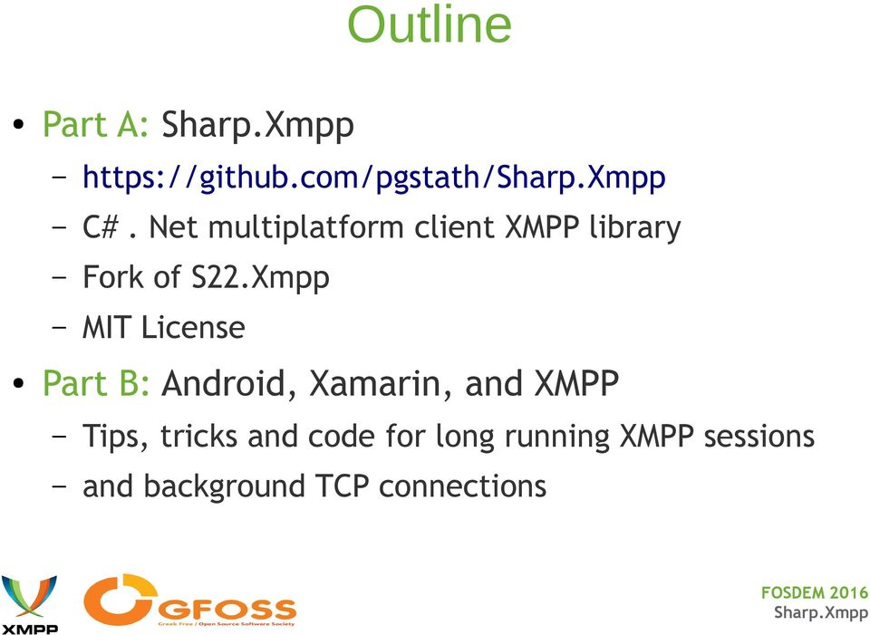 Sharp Xmpp, a multiplatform net XMPP client library, and Android - PDF