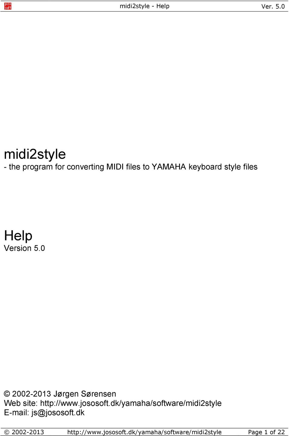 midi2style - the program for converting MIDI files to YAMAHA