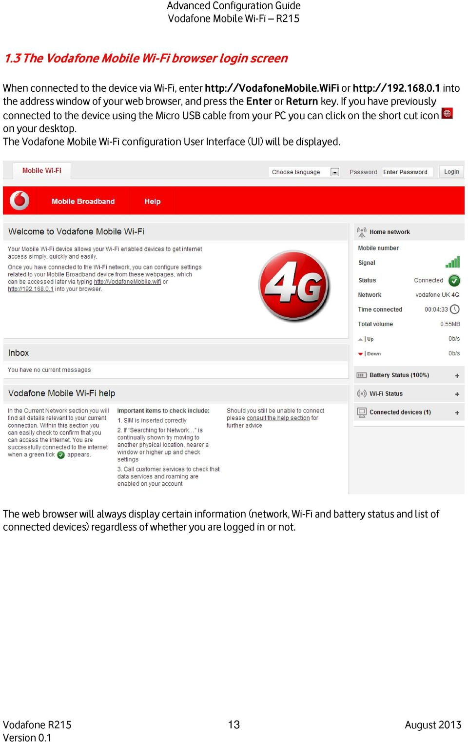 Advanced Configuration Guide  Vodafone Mobile Wi-Fi Vodafone R215 - PDF