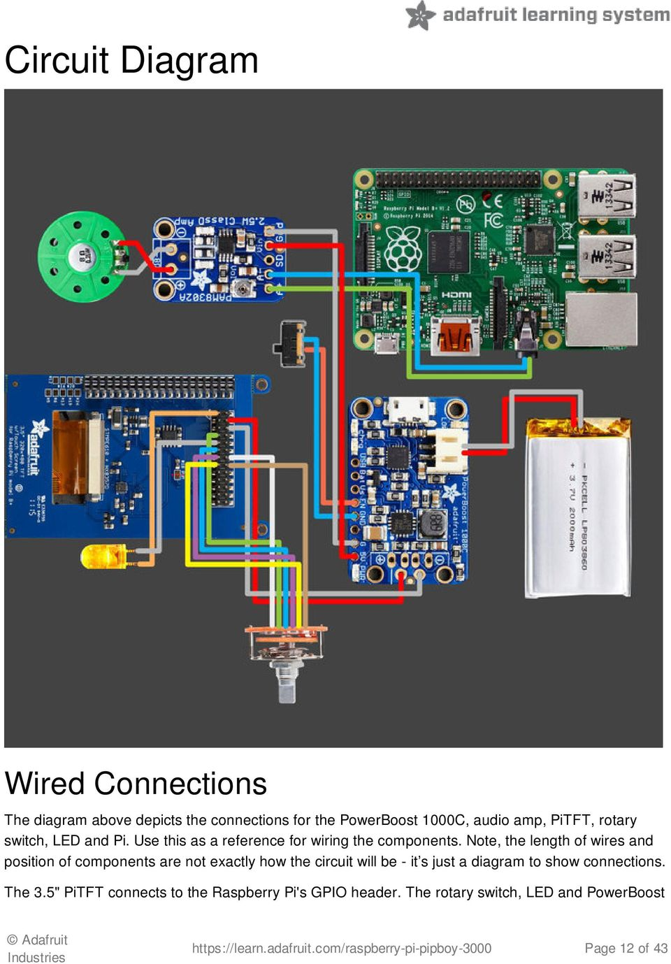 Raspberry Pi Pipboy Pdf Selector Switch Wiring Diagram Pedal Note The Length Of Wires And Position Components Are Not Exactly How Circuit