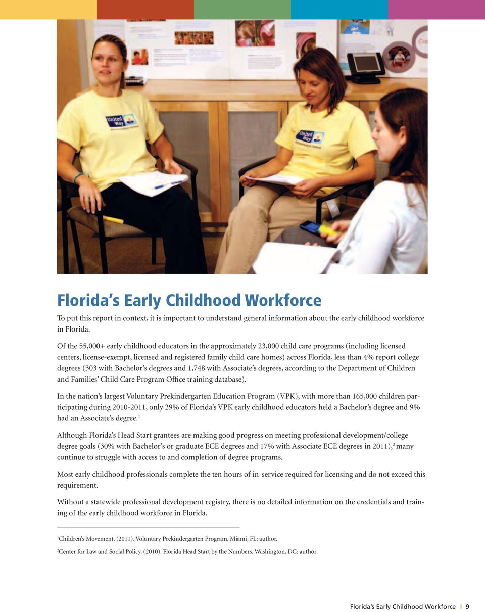 A Comprehensive Evaluation Of Florida S Early Childhood Professional