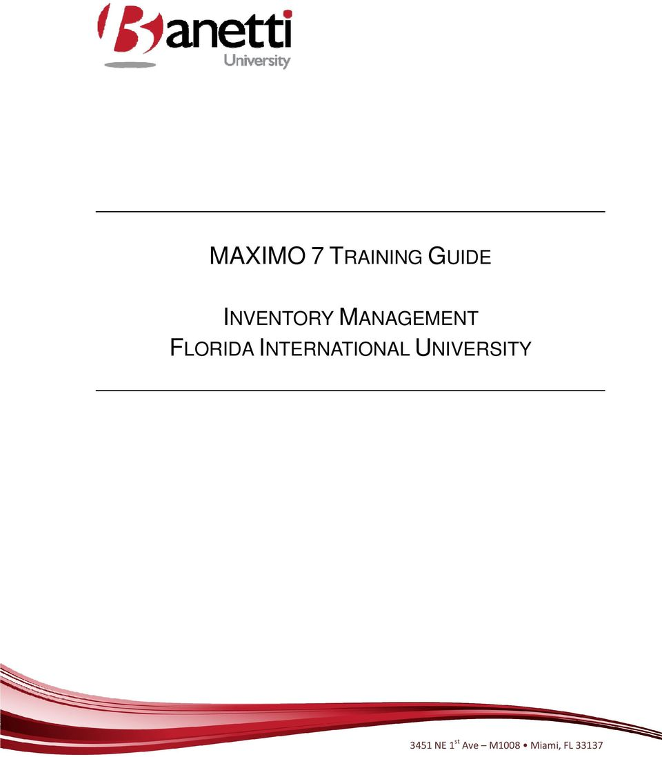 maximo 7 training guide inventory management florida international rh docplayer net