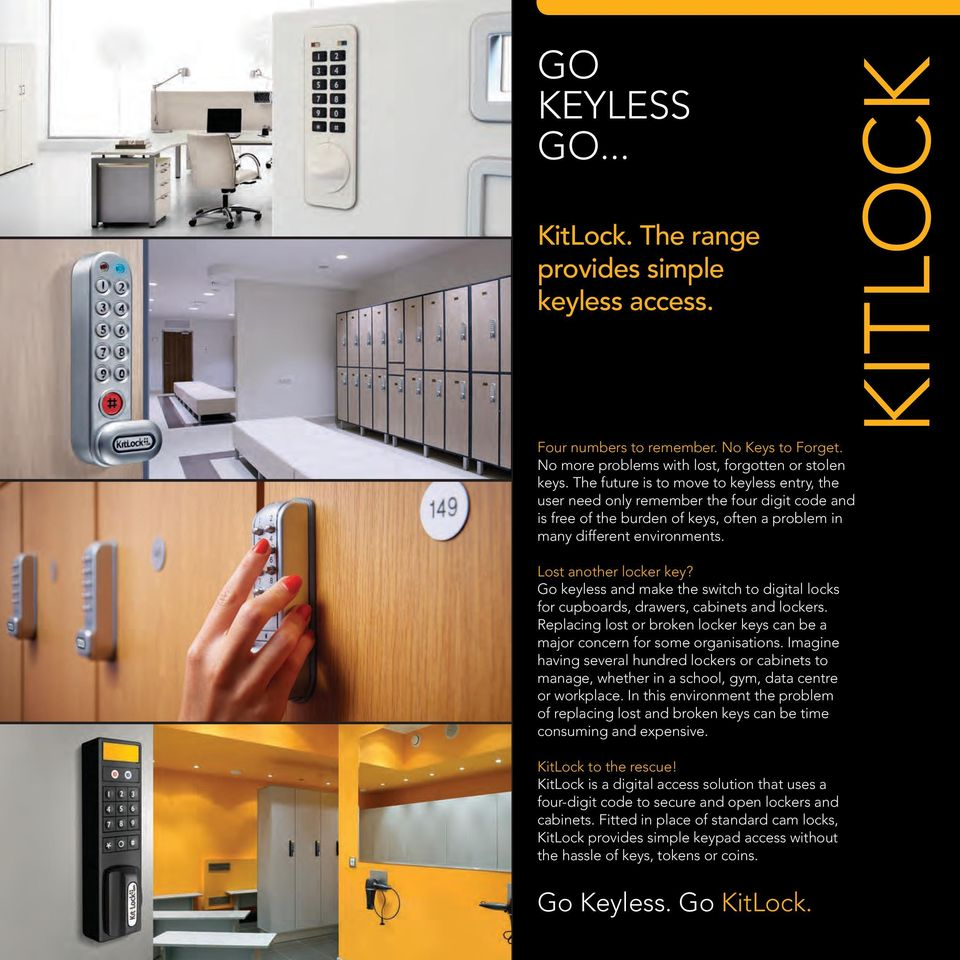 Electronic Locker Locks Go Keyless Kitlock Pdf Four Digit Keypad Operated Switch And Make The To Digital For Cupboards Drawers Cabinets