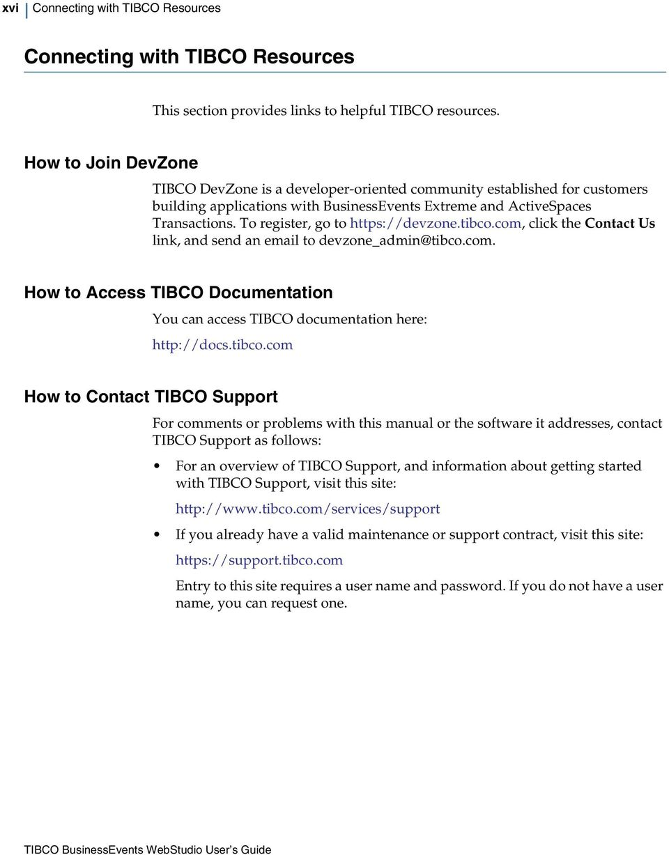 tibco businessevents extreme webstudio user s guide pdf rh docplayer net TIBCO Process TIBCO Process
