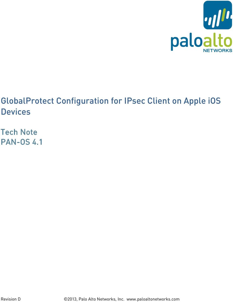 GlobalProtect Configuration for IPsec Client on Apple ios