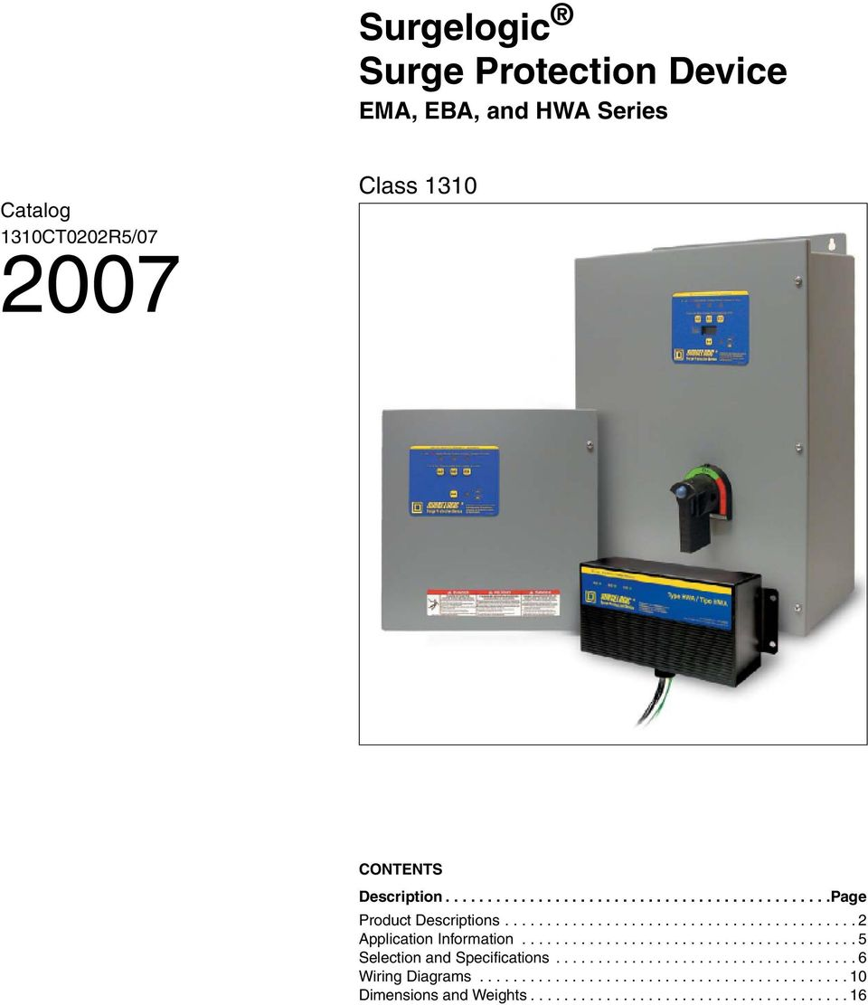 Surge Protector Wiring Diagram Automotive Diagrams Transformer Pdf Surgelogic Protection Device Ema Eba And Hwa Series House From Pole To