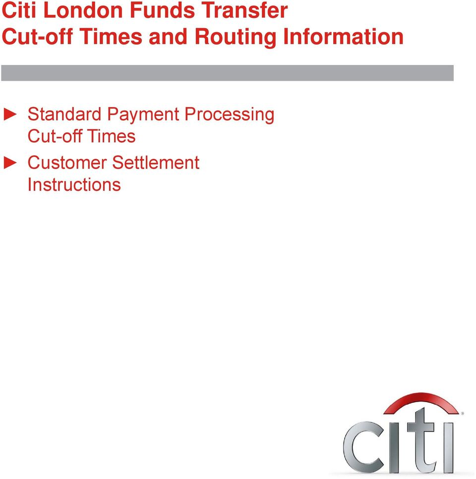 citi london funds transfer cut off times and routing information pdf