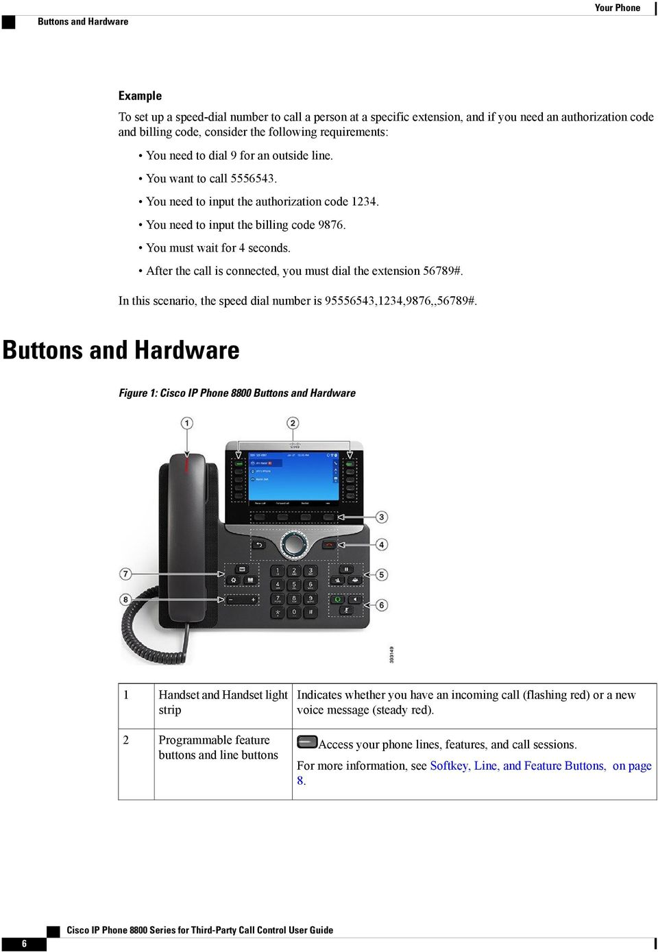 Cisco IP Phone 8800 Series for Third-Party Call Control User