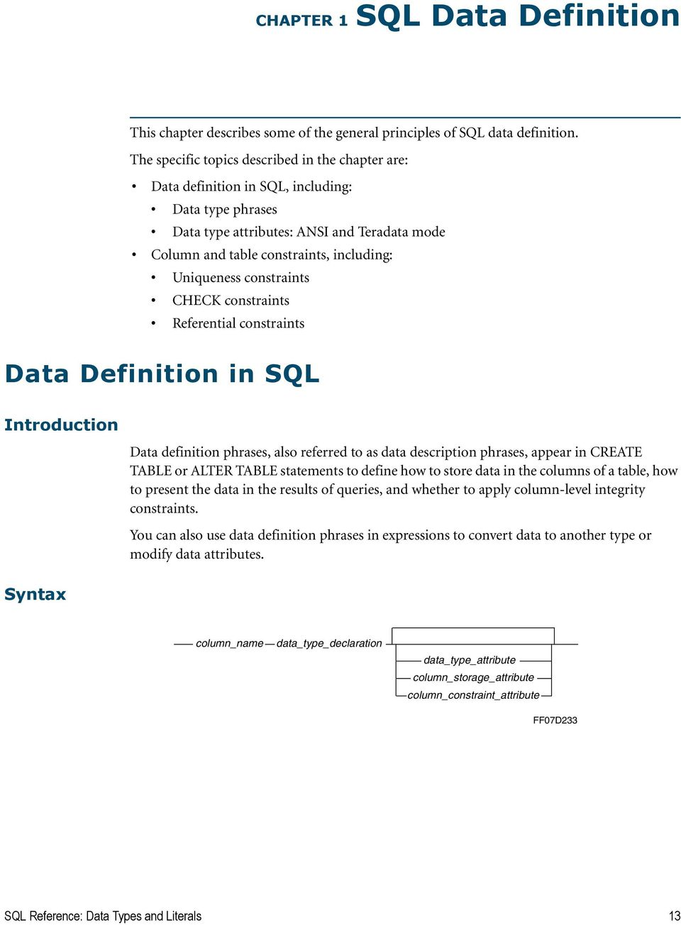 Teradata Database  SQL Reference  Data Types and Literals - PDF