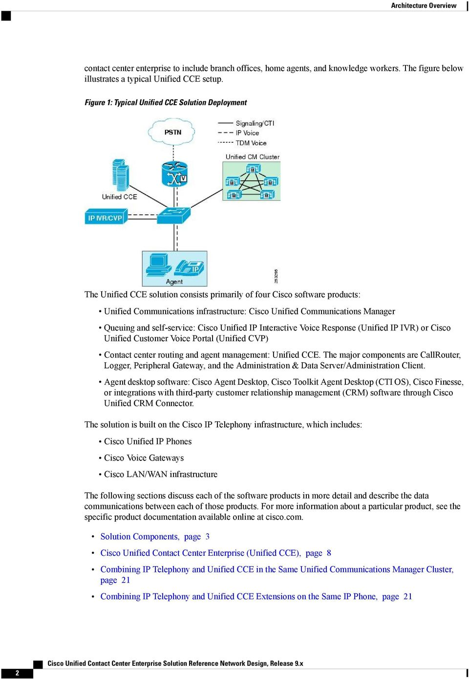 Cisco Unified Contact Center Enterprise Solution Reference Network