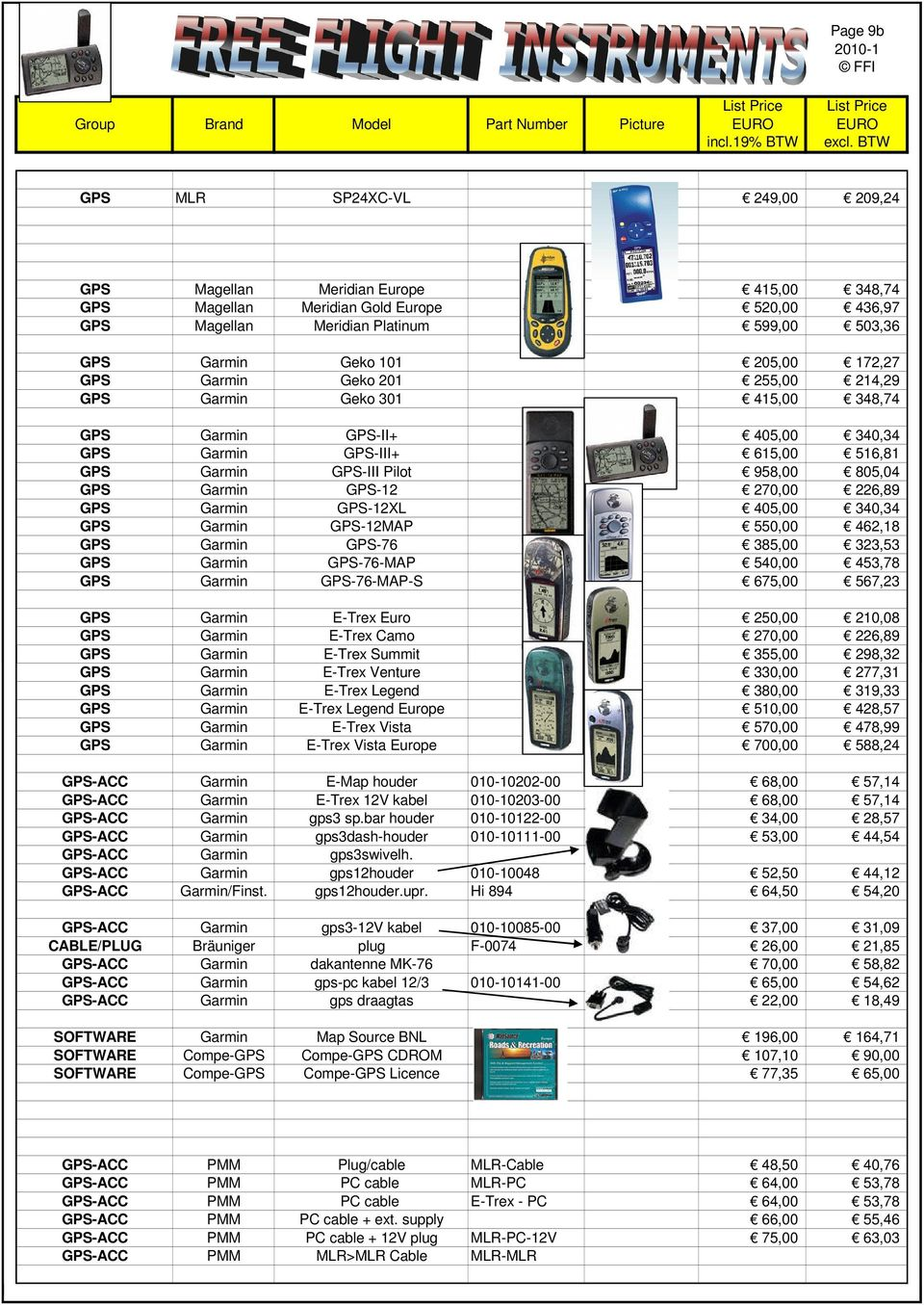 List Price List Price Group Brand Model Part Number Picture