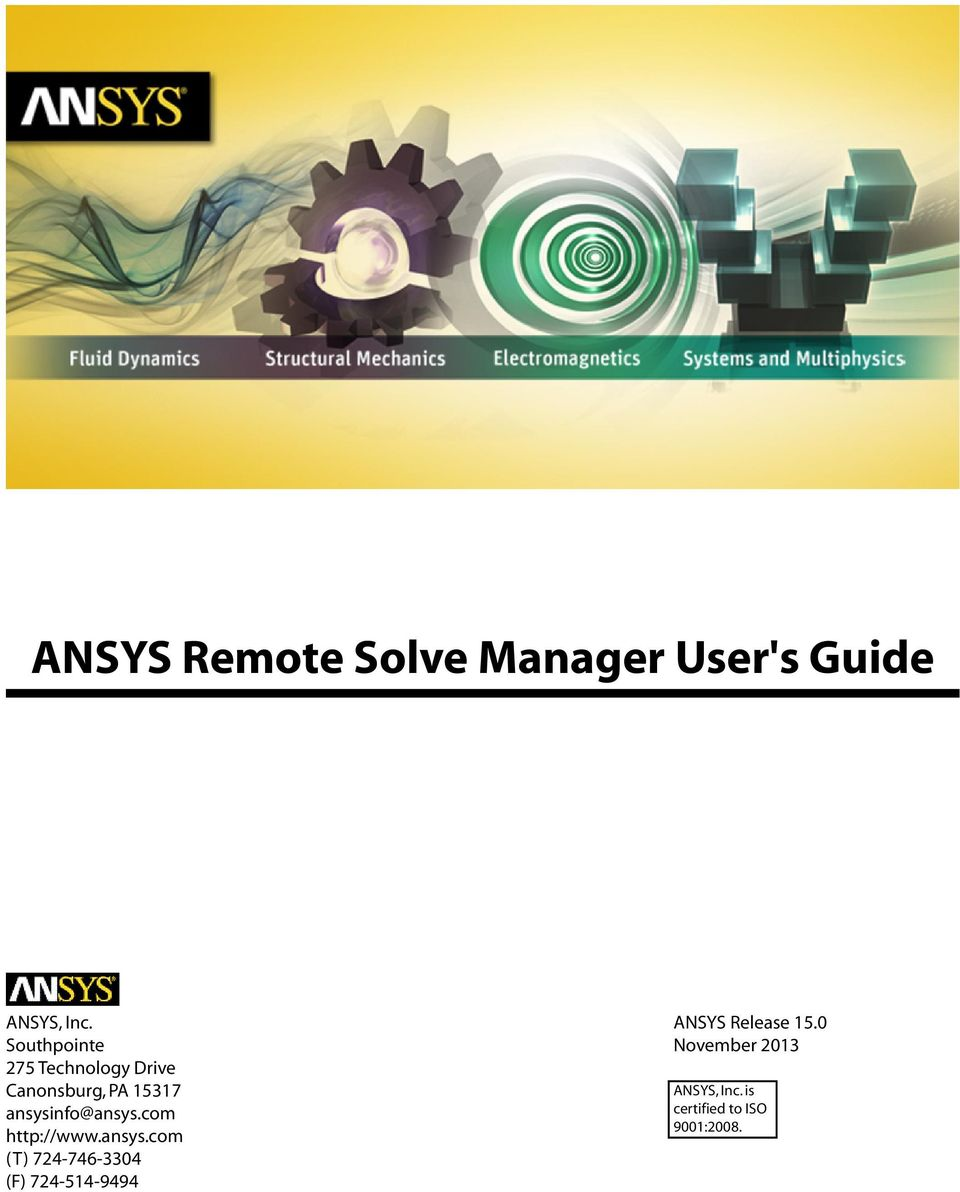 ANSYS Remote Solve Manager User's Guide - PDF