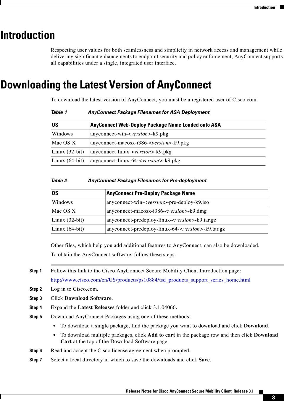 Release Notes for Cisco AnyConnect Secure Mobility Client