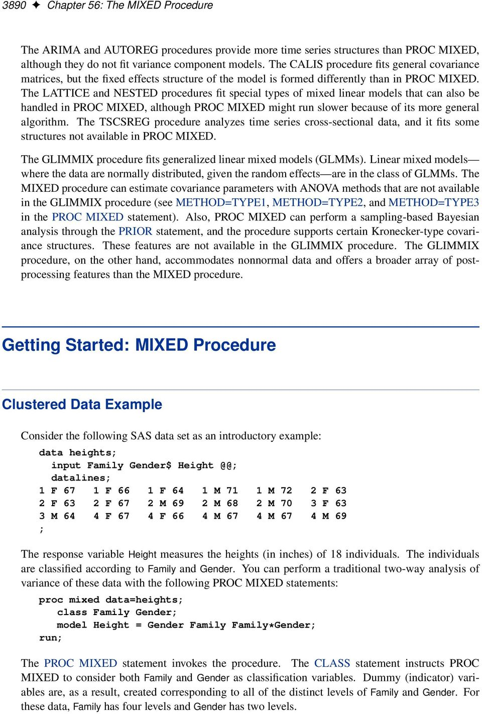 9 2 User s Guide SAS/STAT  The MIXED Procedure  (Book