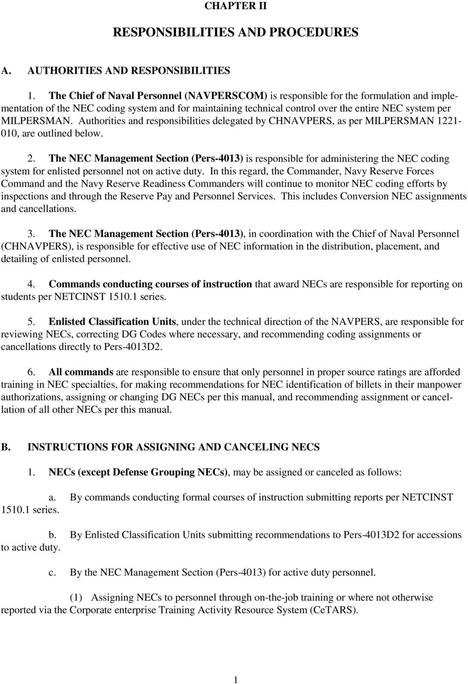 manual of navy enlisted manpower and personnel classifications and rh docplayer net navy nec manual vol 2 navy nec manual 2011