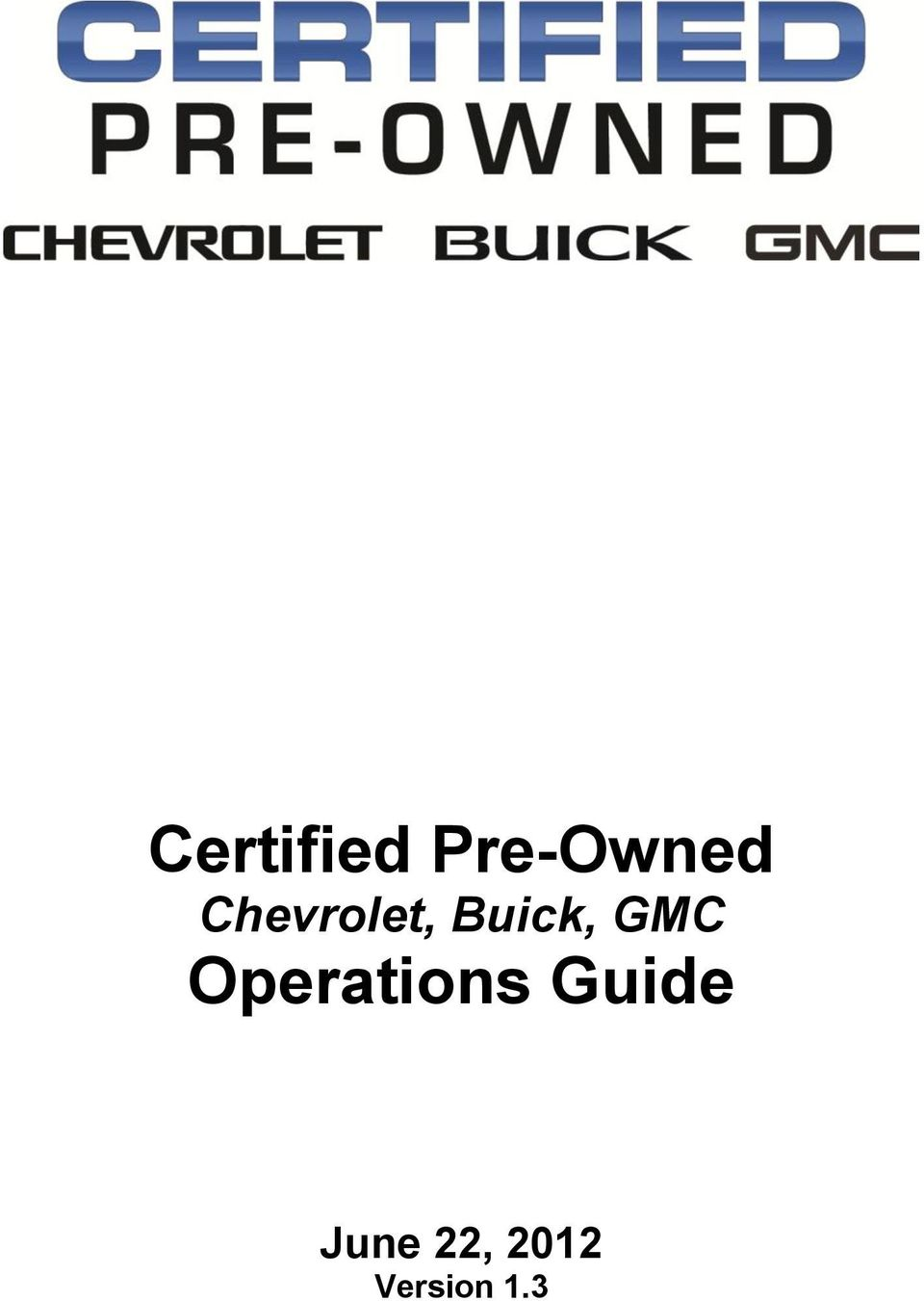 GMC Operations Guide