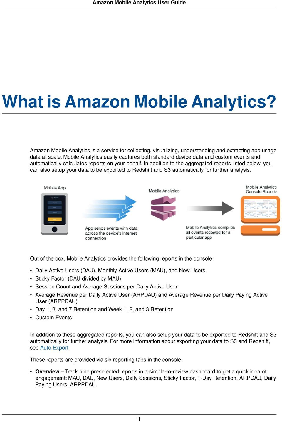 Amazon Mobile Analytics  User Guide - PDF