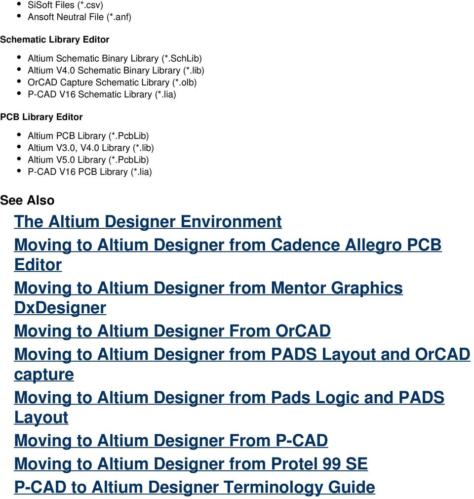 Importing and Exporting Design Files  Contents - PDF