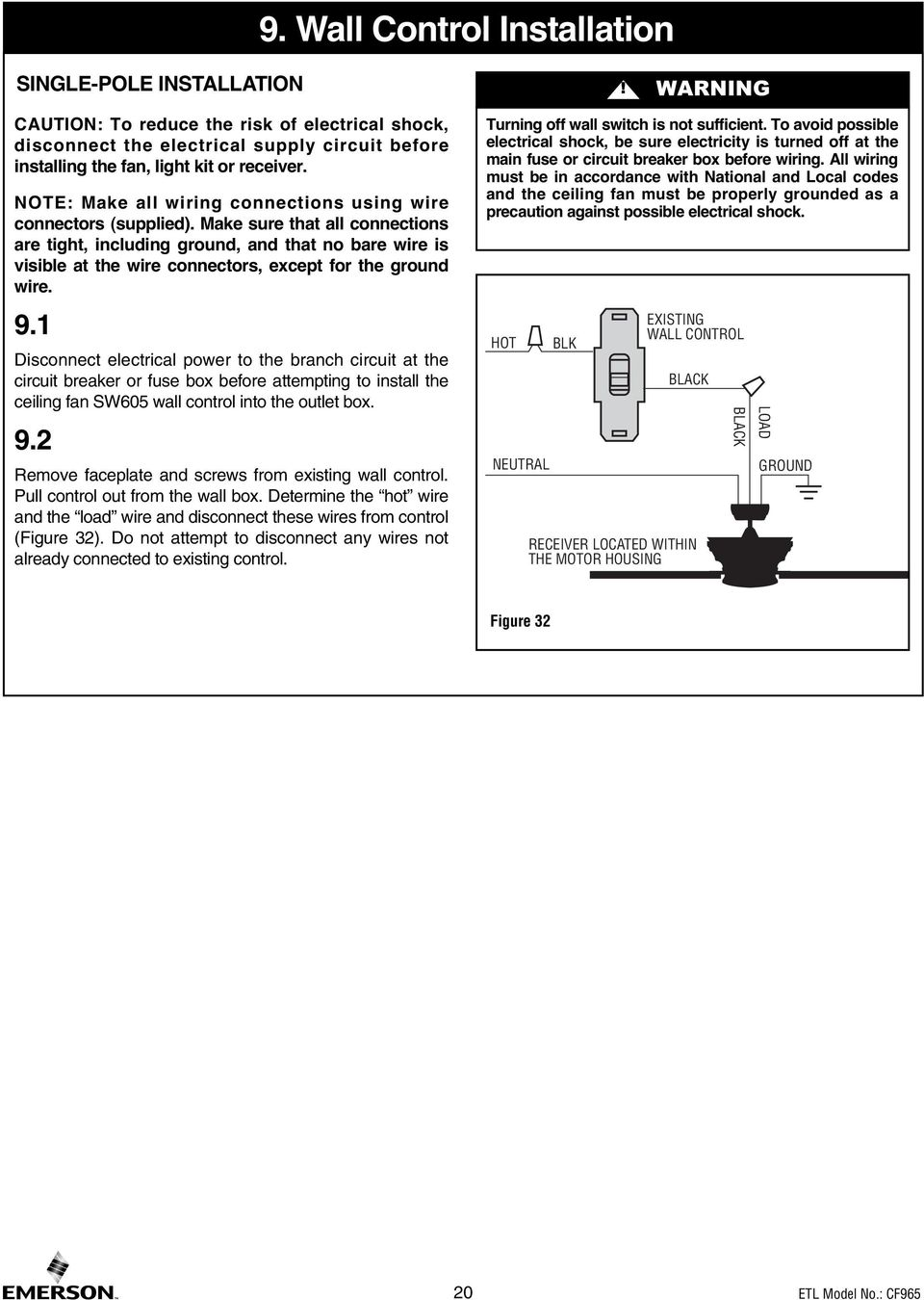 Read And Save These Instructions Portland 54 Ceiling Fan Owners Fuse Box Ground Wire Make Sure That All Connections Are Tight Including No Bare