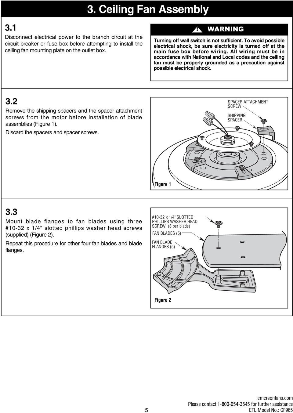 Read And Save These Instructions Portland 54 Ceiling Fan Owners Motor Electrical Wiring Diagram All Must Be In Accordance With National Local Codes The