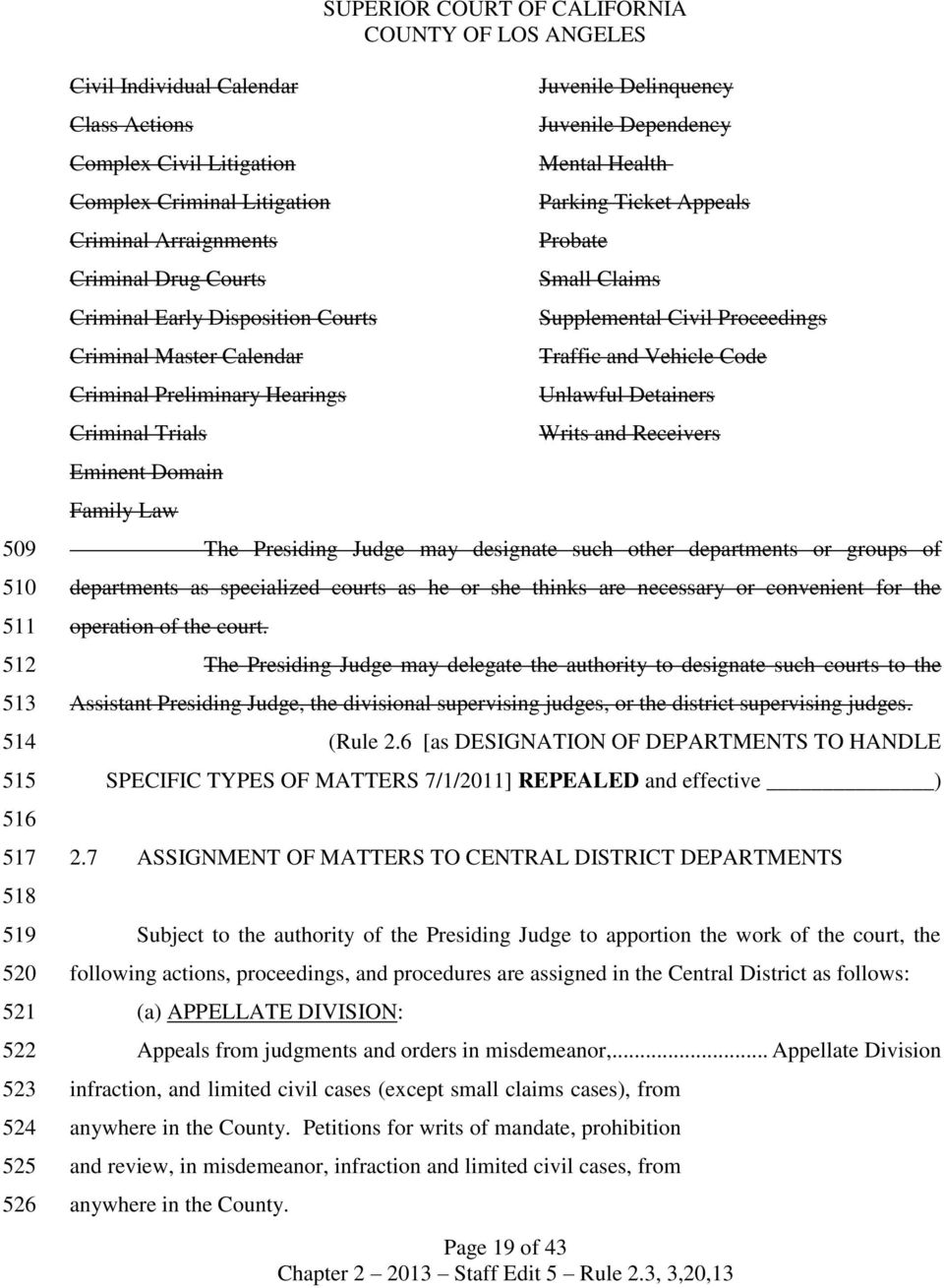 Superior Court of California County of Los Angeles - PDF