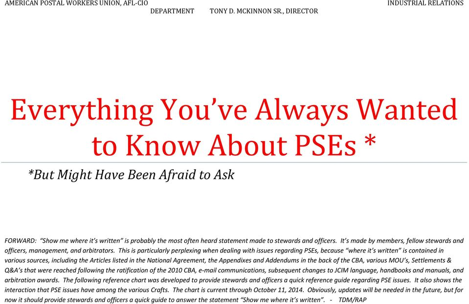 Everything You Ve Always Wanted To Know About Pses Pdf