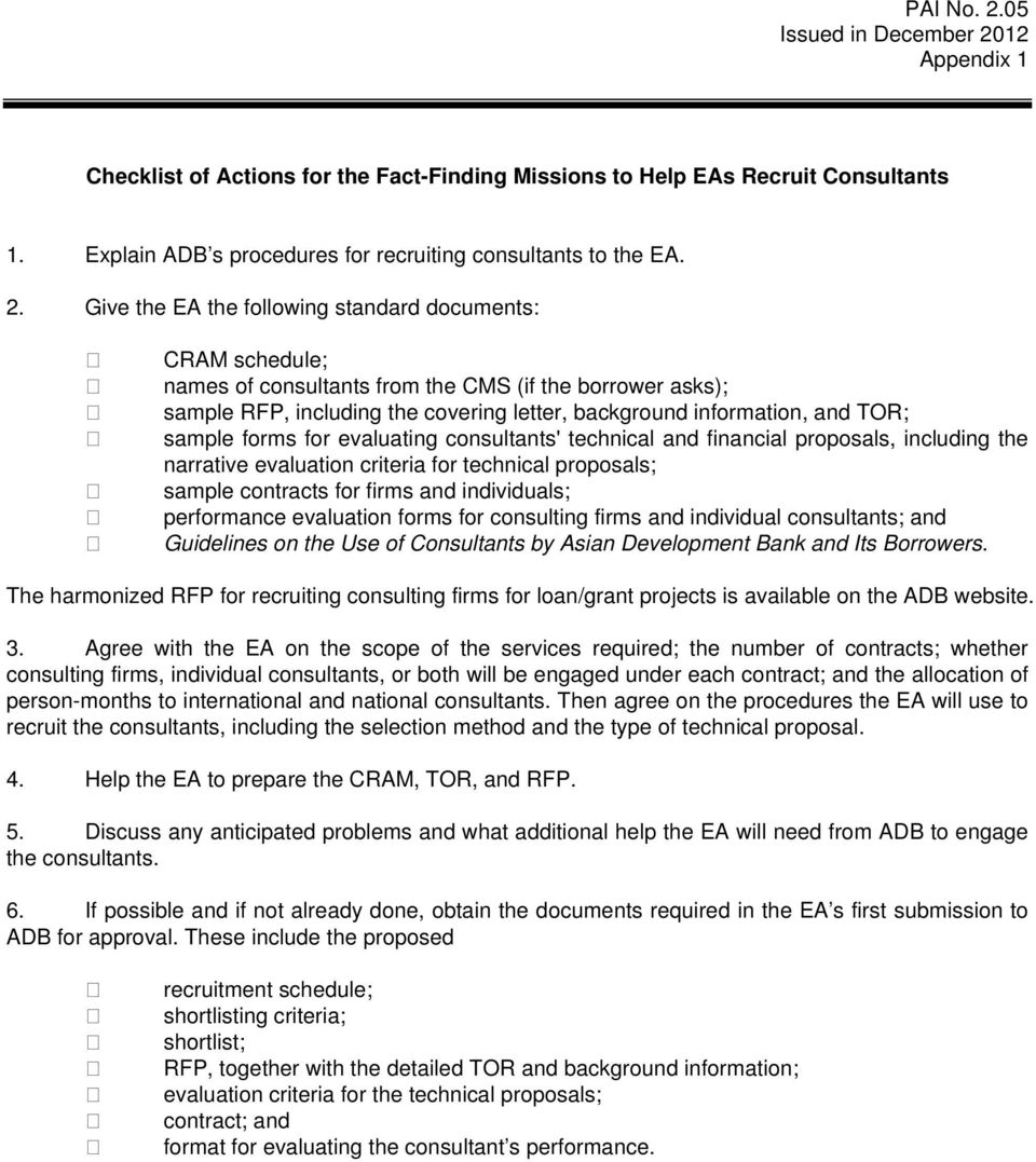 Project Administration Instructions - PDF