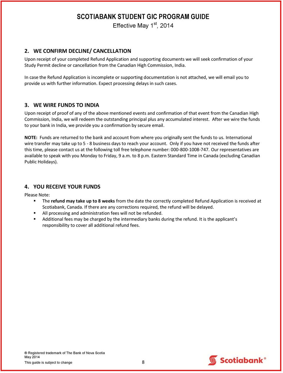 Scotiabank Student Gic Program Guide I How Does The Wiring Money From Usa To Canada Expect Processing Delays In Such Cases 3