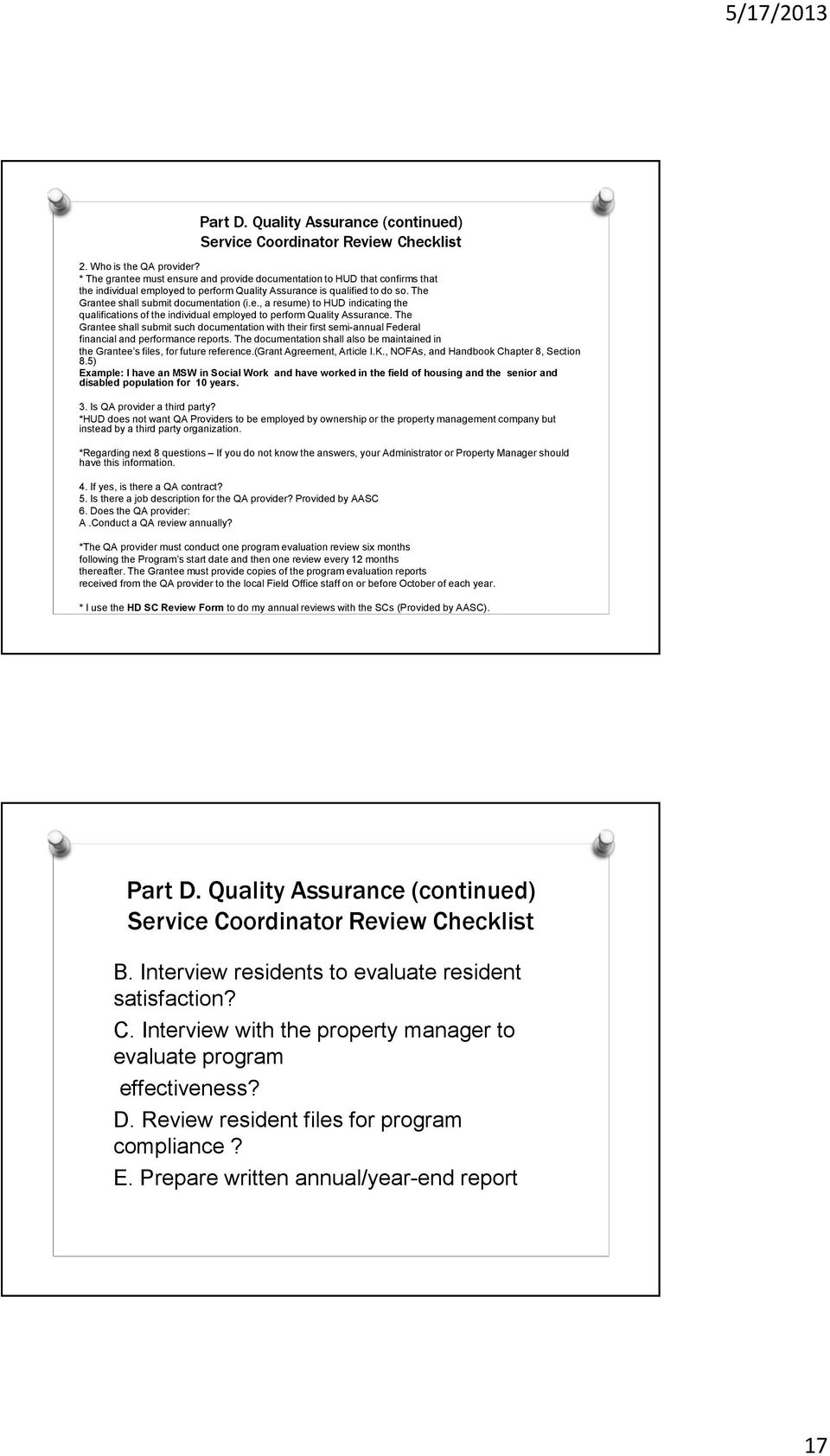 SC 101: UNDERSTANDING WHAT IS EXPECTED FOR A HUD DESK AUDIT AND HOW