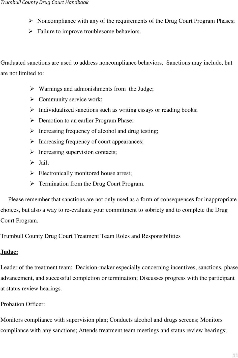 what makes a person eligible for the drug court program what