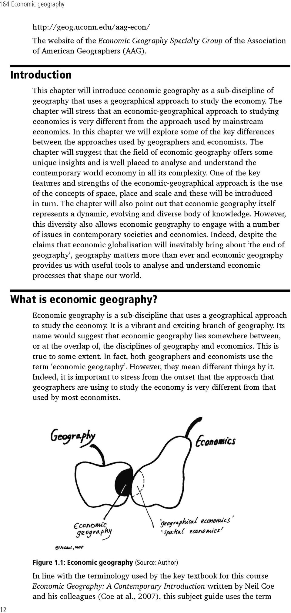 What is studying economic geography as a science: features and its role 8